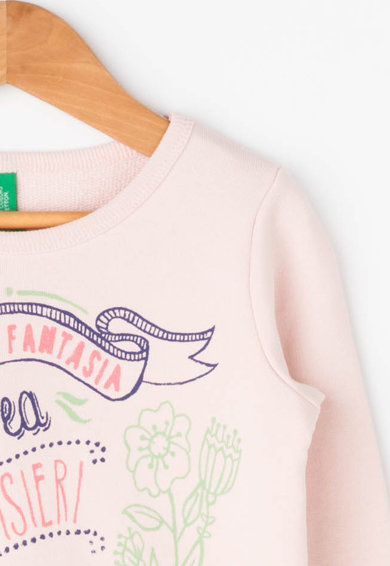 United Colors of Benetton Bluza sport cu imprimeu grafic Fete