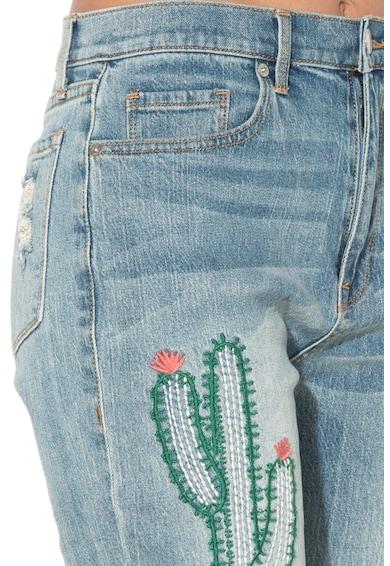 Juicy Couture Дънки с висока талия и флорална бродерия Жени