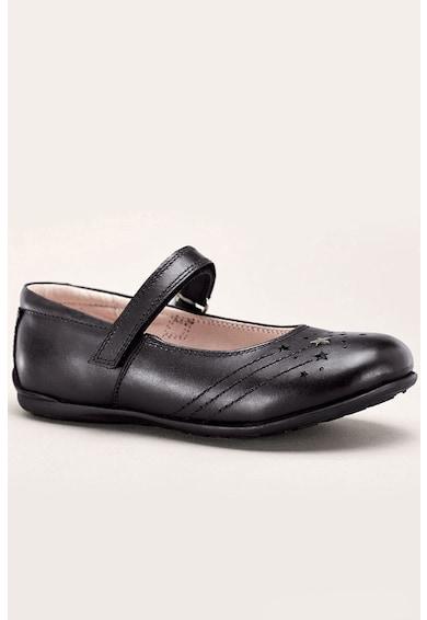 NEXT Bőrcipő csillagos rátétekkel Lány