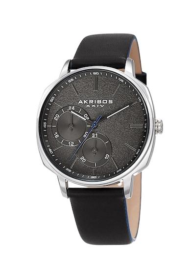 AKRIBOS XXIV Часовник с 2 подциферблата Мъже