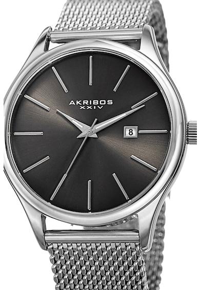 AKRIBOS XXIV Часовник с метална мрежеста верижка Мъже
