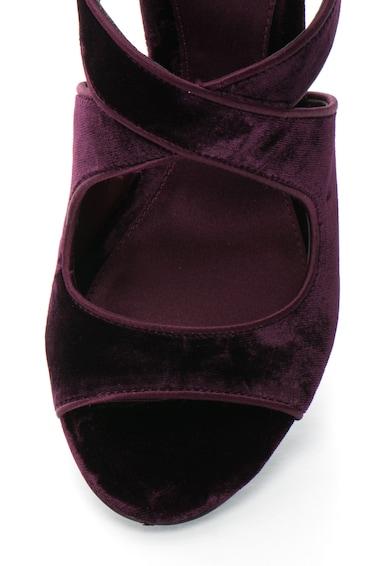 Lauren Ralph Lauren Sandale stiletto din catifea cu fermoar Tyra Femei