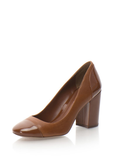 Lauren Ralph Lauren Pantofi de piele cu toc masiv Fallon Femei