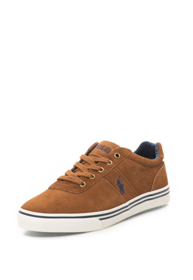 Polo Ralph Lauren Hanford Nyersbőr Sneakers Cipő Hímzett Logóval férfi