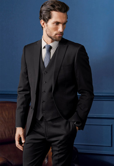 NEXT Sacou elegant slim fit din lana italiana Barbati