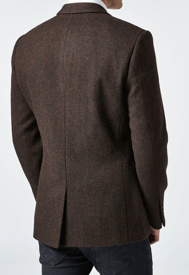 NEXT Sacou din amestec de lana cu imprimeu herringbone Barbati