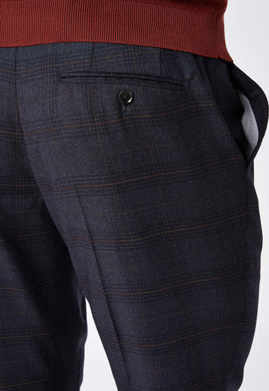 NEXT Pantaloni slim fit de lana in carouri Barbati