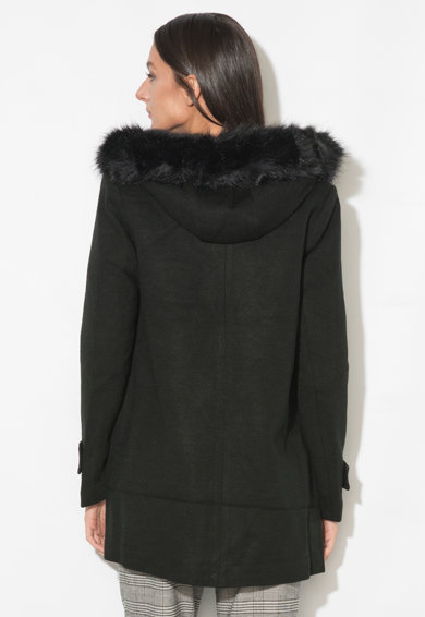 Zee Lane Collection Haina cu garnitura de blana sintetica detasabila Femei