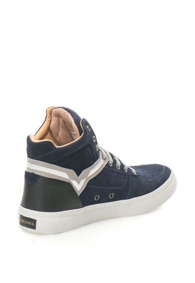 Diesel Pantofi sport de piele intoarsa si piele S-Spaark Barbati