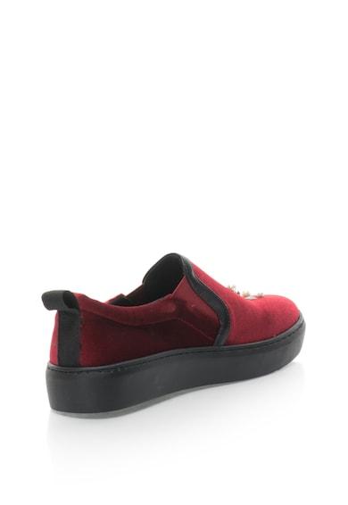 Fiorucci Pantofi slip-on de catifea, brodati, cu margele Femei