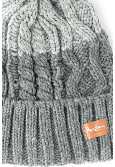 Pepe Jeans London Pepe Jeans, Плетена шапка с помпон Жени