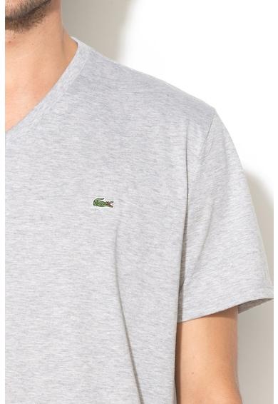 Lacoste Памучна тениска с шпиц Мъже