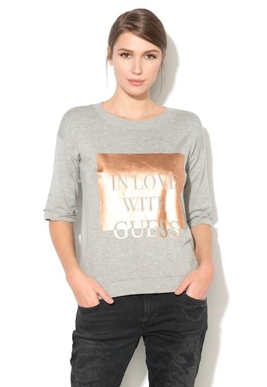 GUESS JEANS Bluza din tricot fin cu detaliu metalizat Femei
