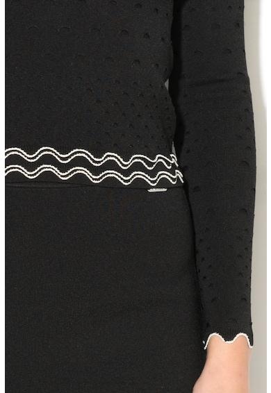 GUESS JEANS Bluza texturata cu volane Femei