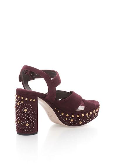 Miu Miu Sandale de piele intoarsa decorate cu nituri Femei