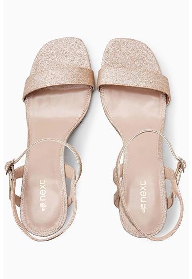 NEXT Sandale stralucioare cu calapod lat Femei
