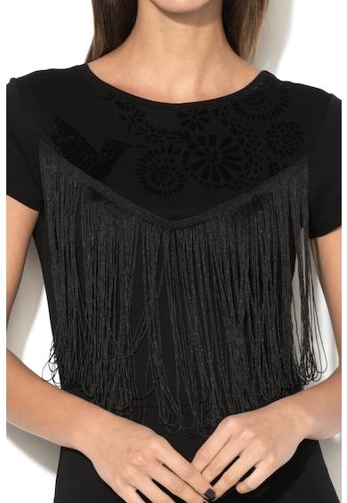 DESIGUAL Прилепнала рокля Fringed Жени