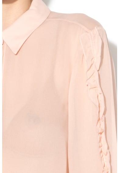 Max&Co Camasa transparenta cu insertii cu volane Panfilo Femei