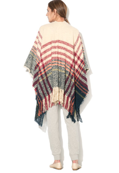 Undercolors of Benetton Poncho fara inchidere Holiday Party Femei