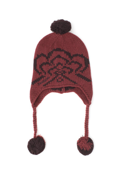 DESIGUAL Caciula tricotata cu clape si ciucure Femei