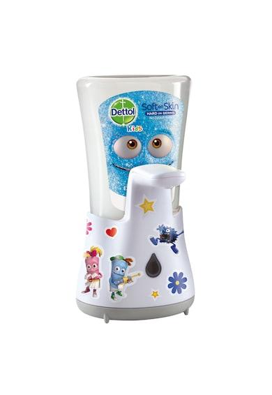 Dettol Dispenser automat cu senzor  Kids No Touch pentru sapunul lichid + Rezerva sapun lichid Dettol Kids No Touch cu Aloe Vera, 250 ml Femei