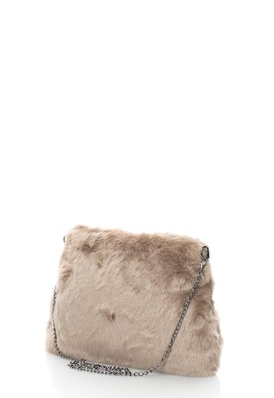 Oakoui Geanta crossbody din blana sintetica cu bareta lant Femei