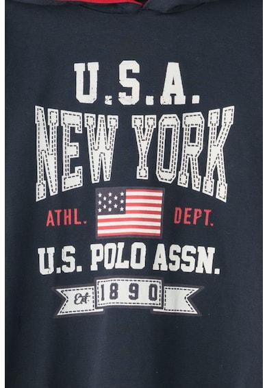 U.S. Polo Assn. Hanorac cu imprimeu text USA New York Baieti