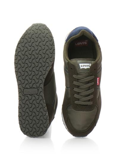 Levi's Pantofi sport din piele intoarsa sintetica si material textil Barbati