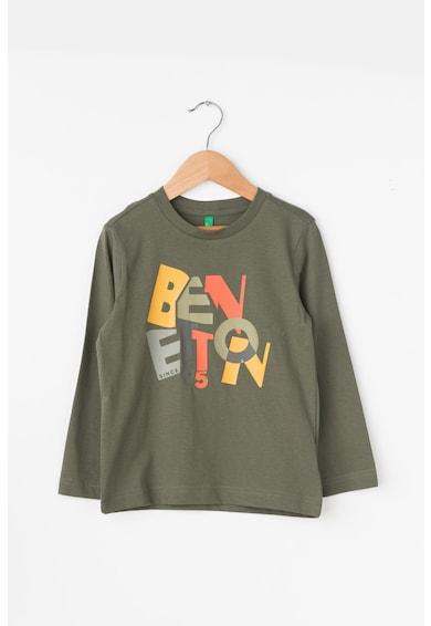 United Colors of Benetton Bluza cu imprimeu text Baieti