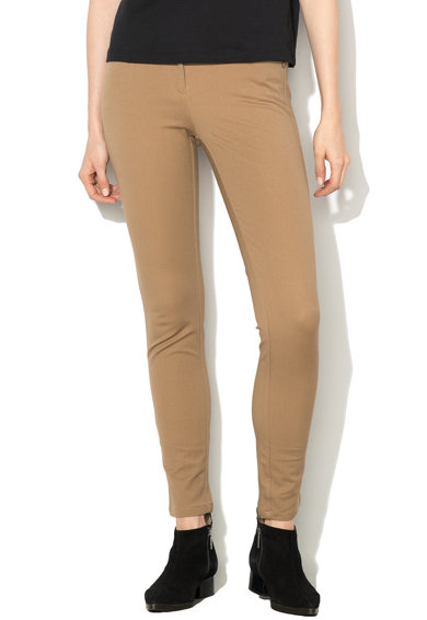 Pennyblack Pantaloni lungi cu talie regular si buzunare Lampone Femei