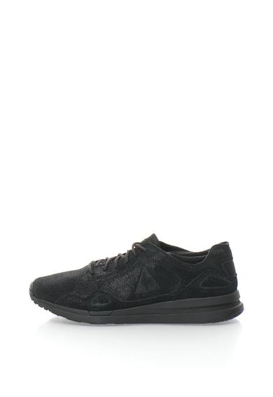 Le Coq Sportif Pantofi sport de piele intoarsa cu aspect metalizat LCS R Flow Femei