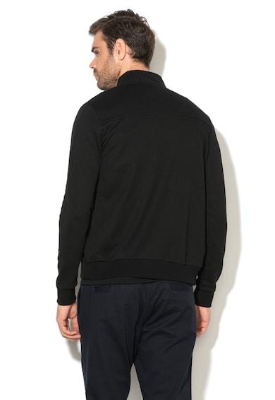 Le Coq Sportif Bluza sport cu fermoar si garnituri striate ESS Barbati