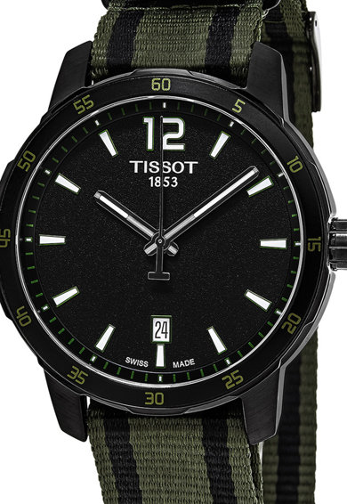 Tissot Часовник с раирана каишка Мъже