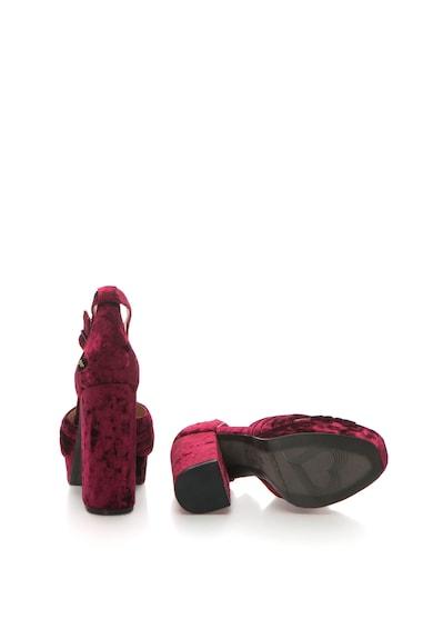 Fornarina Sandale de catifea cu barete incrucisate Margot Femei