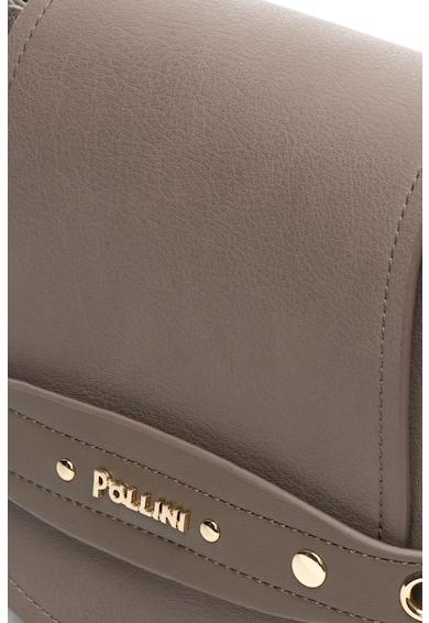 Pollini Geanta saddle de piele sintetica cu aplicatie logo Femei