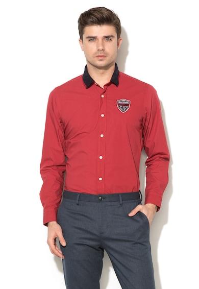 Galvanni Риза с дълги ръкави и пришито лого Мъже