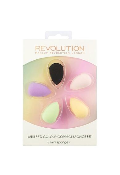 Makeup Revolution Set 5 bureti mini  Mini Pro Colour Correct pentru aplicarea machiajului Femei