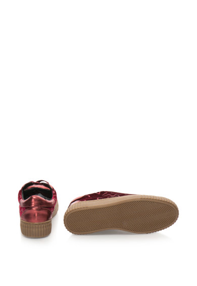Francesco Milano Pantofi sport cu insertii cu paiete Femei