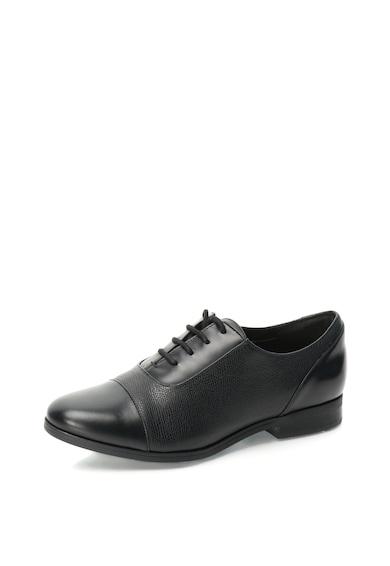 Clarks Pantofi Oxford de piele cu textura Safiano Tilmont Femei