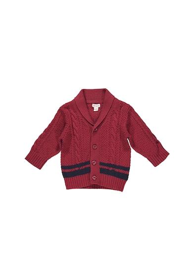 Brums Cardigan din bumbac tricotat cu guler sal Baieti