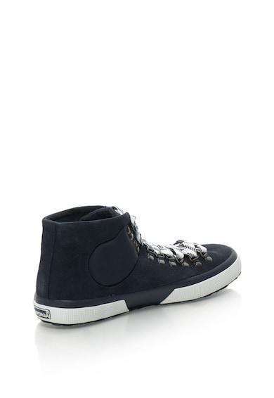 Superga Pantofi sport mid-hi de piele intoarsa cu insertii de vatelina Barbati