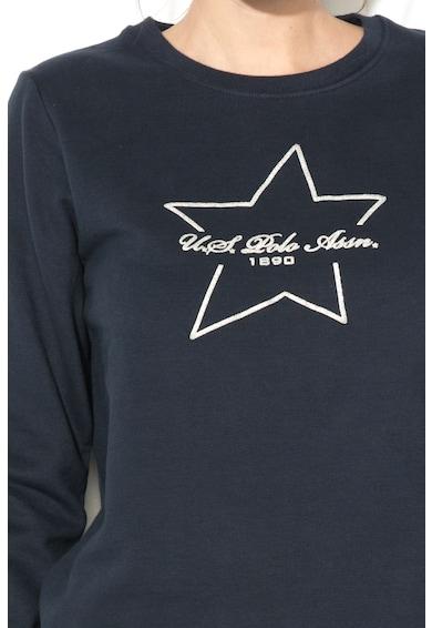 U.S. Polo Assn. Bluza sport cu imprimeu logo stralucitor Femei