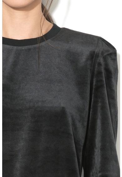 Juicy Couture Bluza sport catifelata cu terminatie elastica Femei