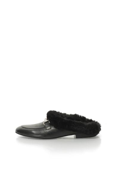 Zee Lane Oriana bőrcipő szőrmés szegélyekkel női