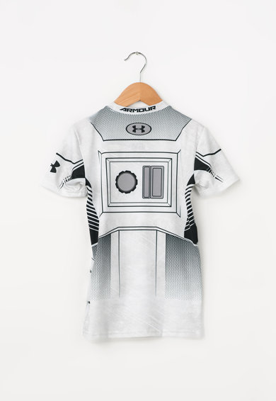 Under Armour Тениска за фитнес с овално деколте и фигурална щампа Момчета