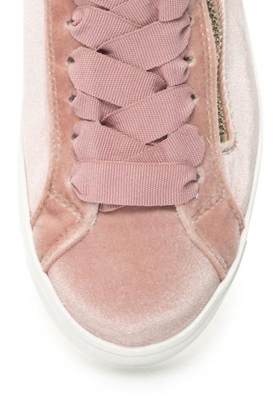 Tamaris Pantofi sport de catifea cu fermoar decorativ Femei