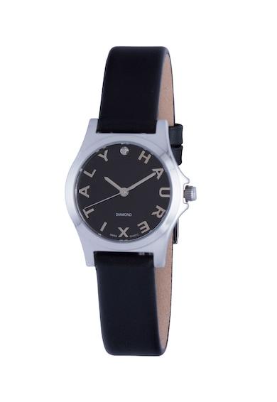 Haurex Аналогов часовник с 3 стрелки и кожена каишка Жени