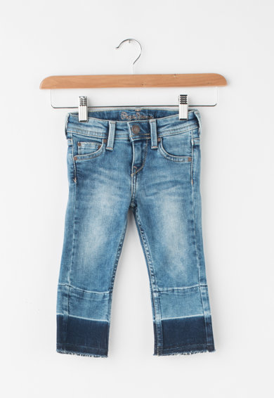 Pepe Jeans London Mila slim fit farmernadrág eldolgozatlan szárvégekkel Lány