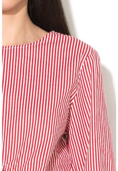 Neon Rose Раирана блуза с бухнали ръкави Жени