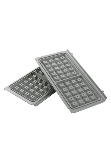 Breville Aparat de vafe  , 850W, Placi antiaderente Duraceramic, Inox/Alb Femei